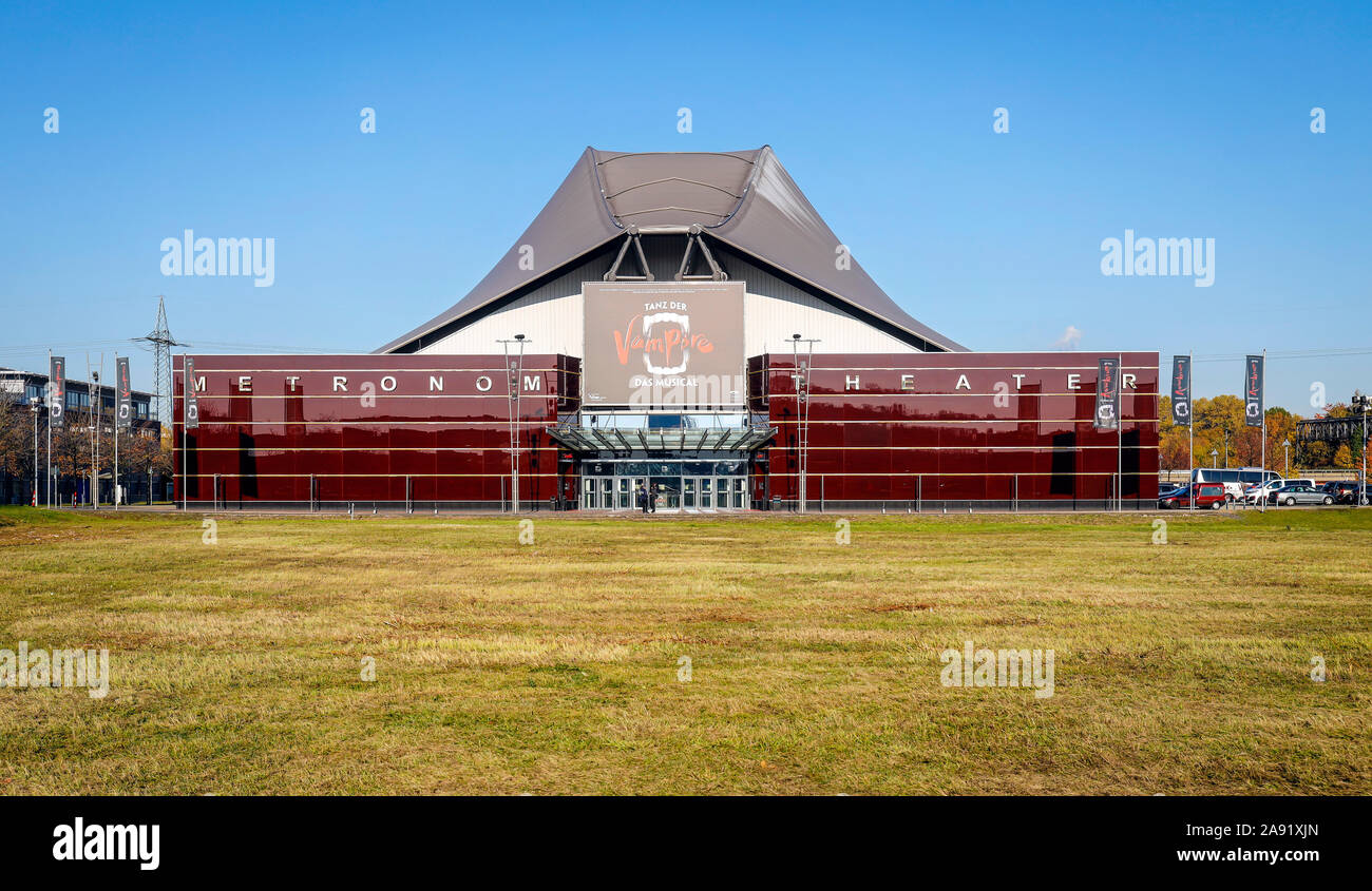 Oberhausen, Ruhrgebiet, Nordrhein-Westfalen, Germany - Musical Metronom Theater am CENTRO, Musical-Theater und Veranstaltungshalle der Stage Entertain Stock Photo