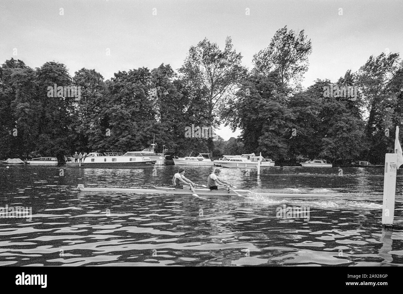 Henley, GREAT BRITAIN, 1982, Henley Royal Regatta, Henley on Thames England, [Mandatory Credit Peter Spurrier/Intersport Images] Stock Photo