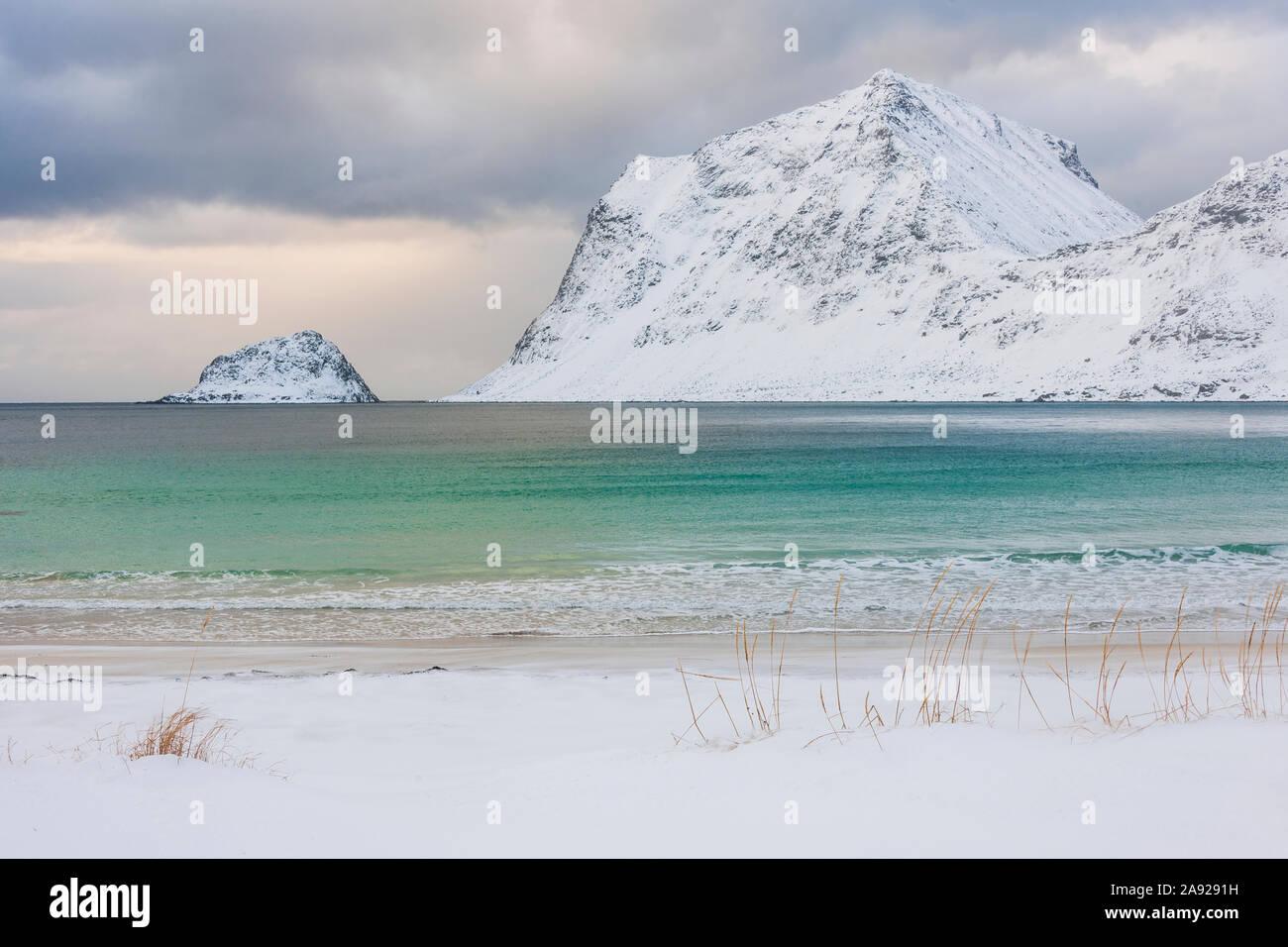 Coast at winter Stock Photo