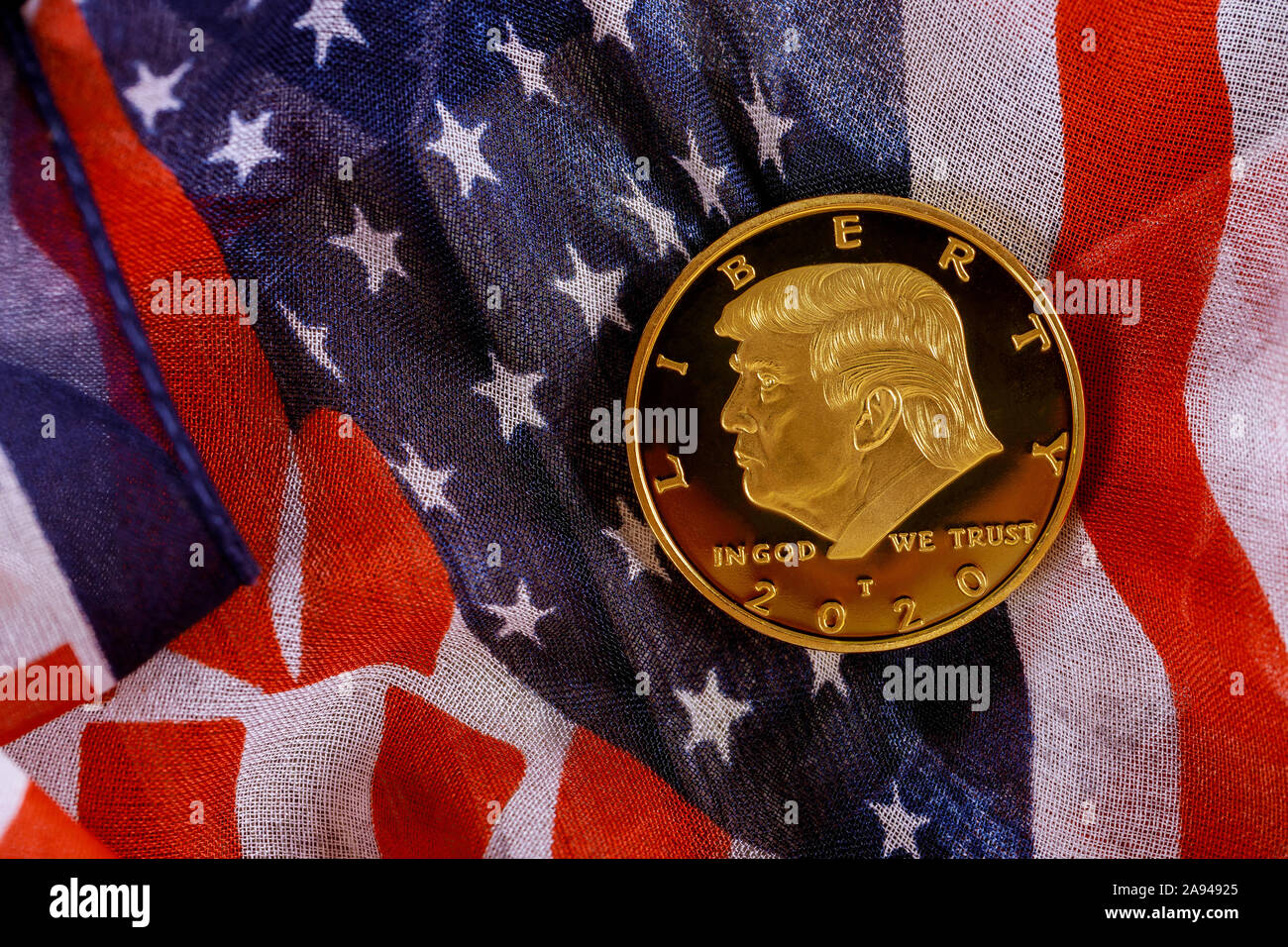 New York Election 2020.New York Ny Nov 12 2019 Donald Trump Coin In Against Usa