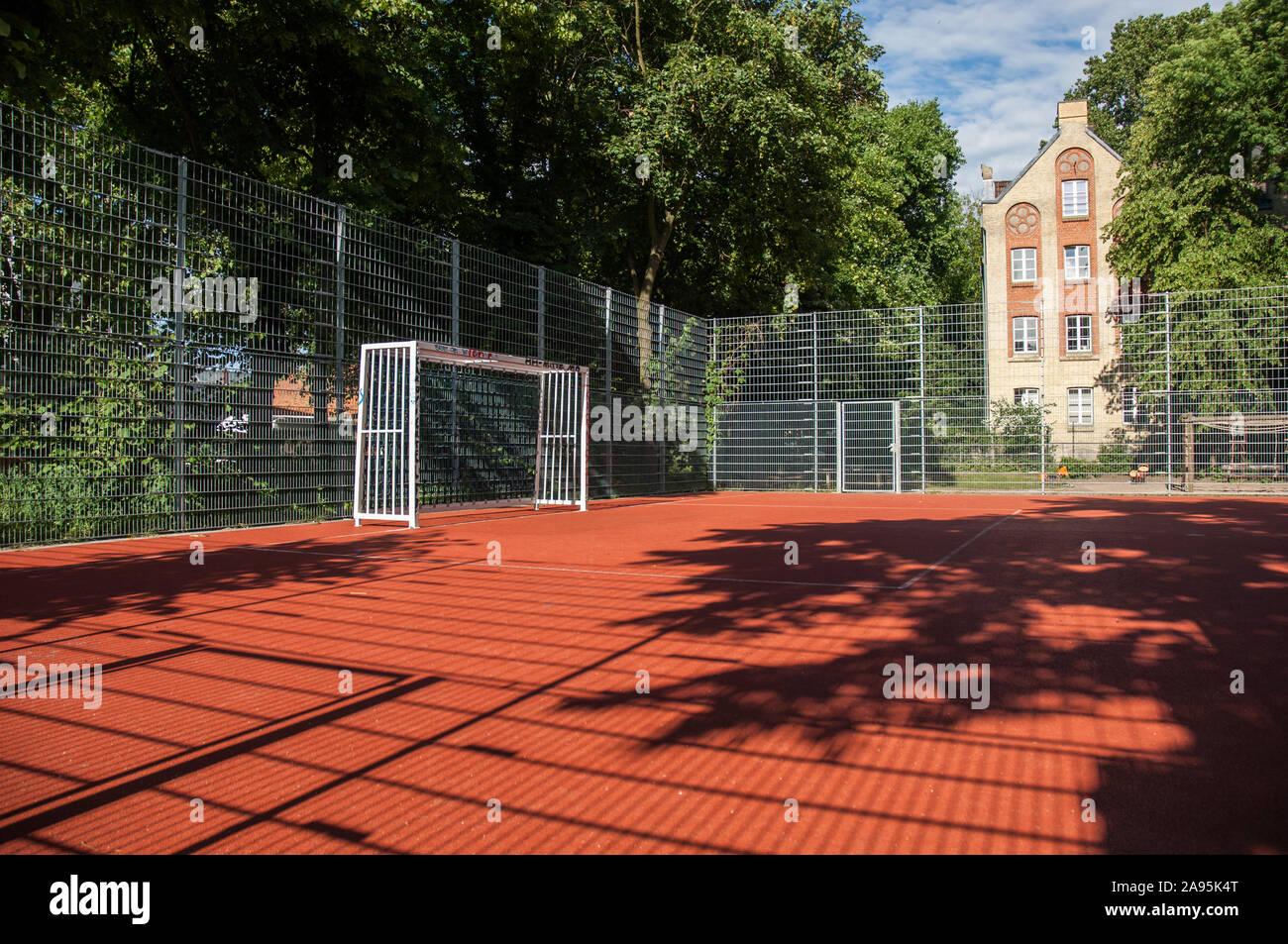 Sandplatz Fußball Stock Photo
