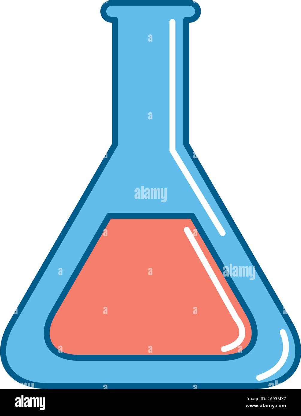 Flask icon design, Substance science laboratory chemistry research technology and biology theme Vector illustration Stock Vector