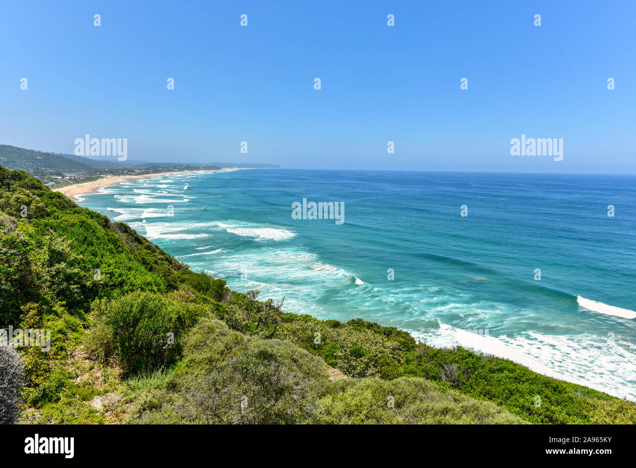 Wilderness from the view point on the Garden Route, Western Cape, South Africa Stock Photo