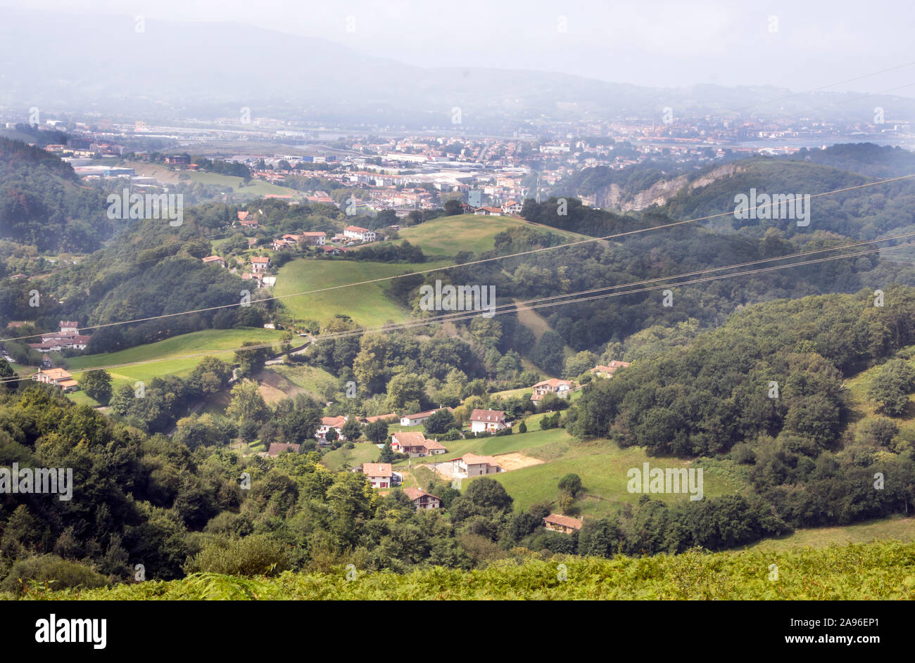 Pyrenees mountains in Navarra in a cloudy day Stock Photo
