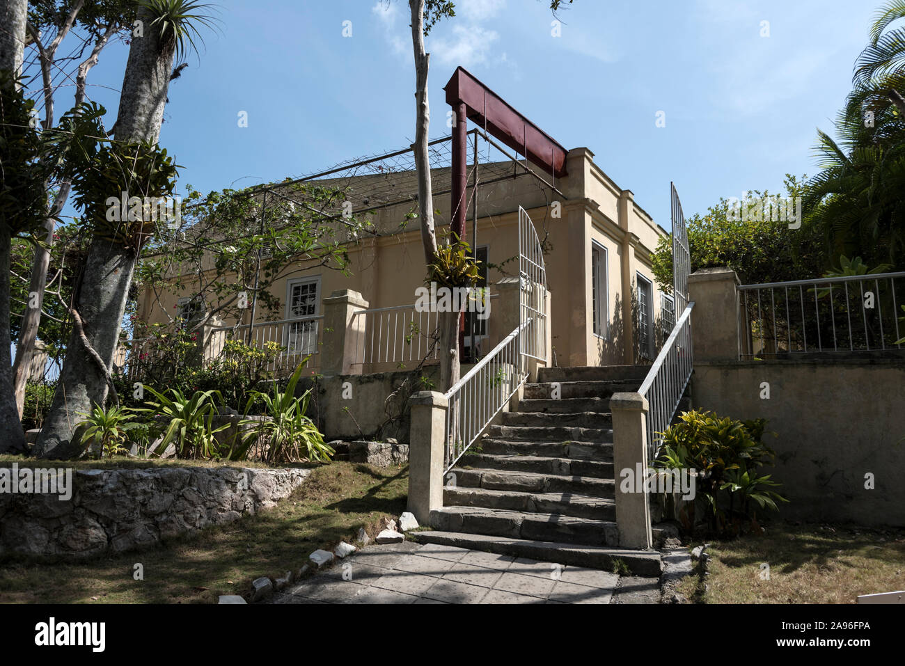 American author, Ernest Hemingway's home, Finca La Vigia, in San Francisco de Paula, southeast of Havana city centre in Cuba.    The house was given t Stock Photo