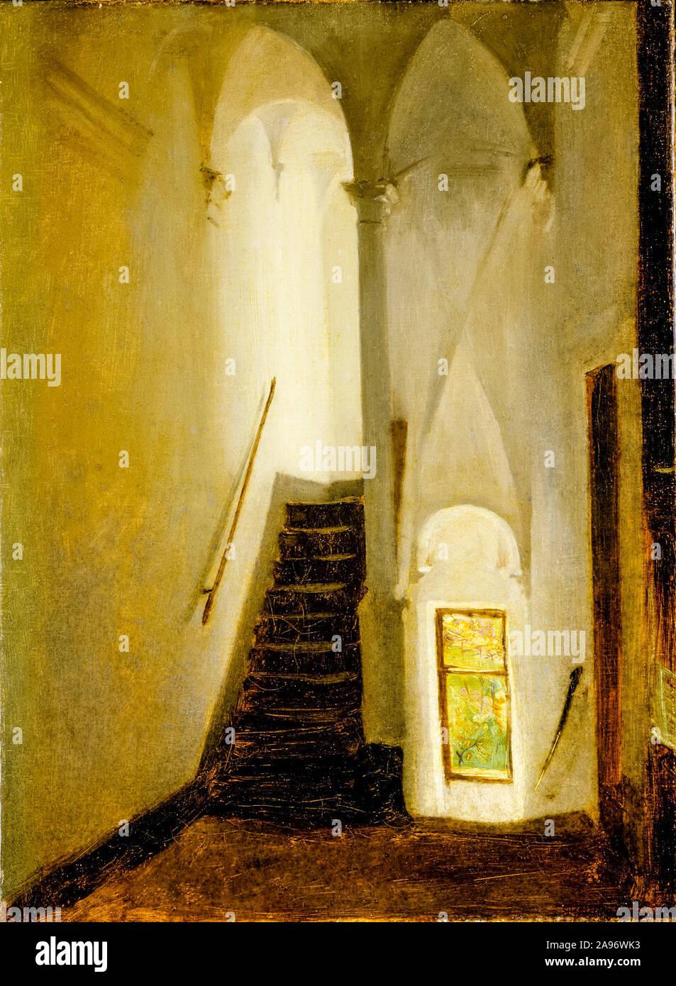 John Singer Sargent, Staircase, painting, circa 1878 Stock Photo