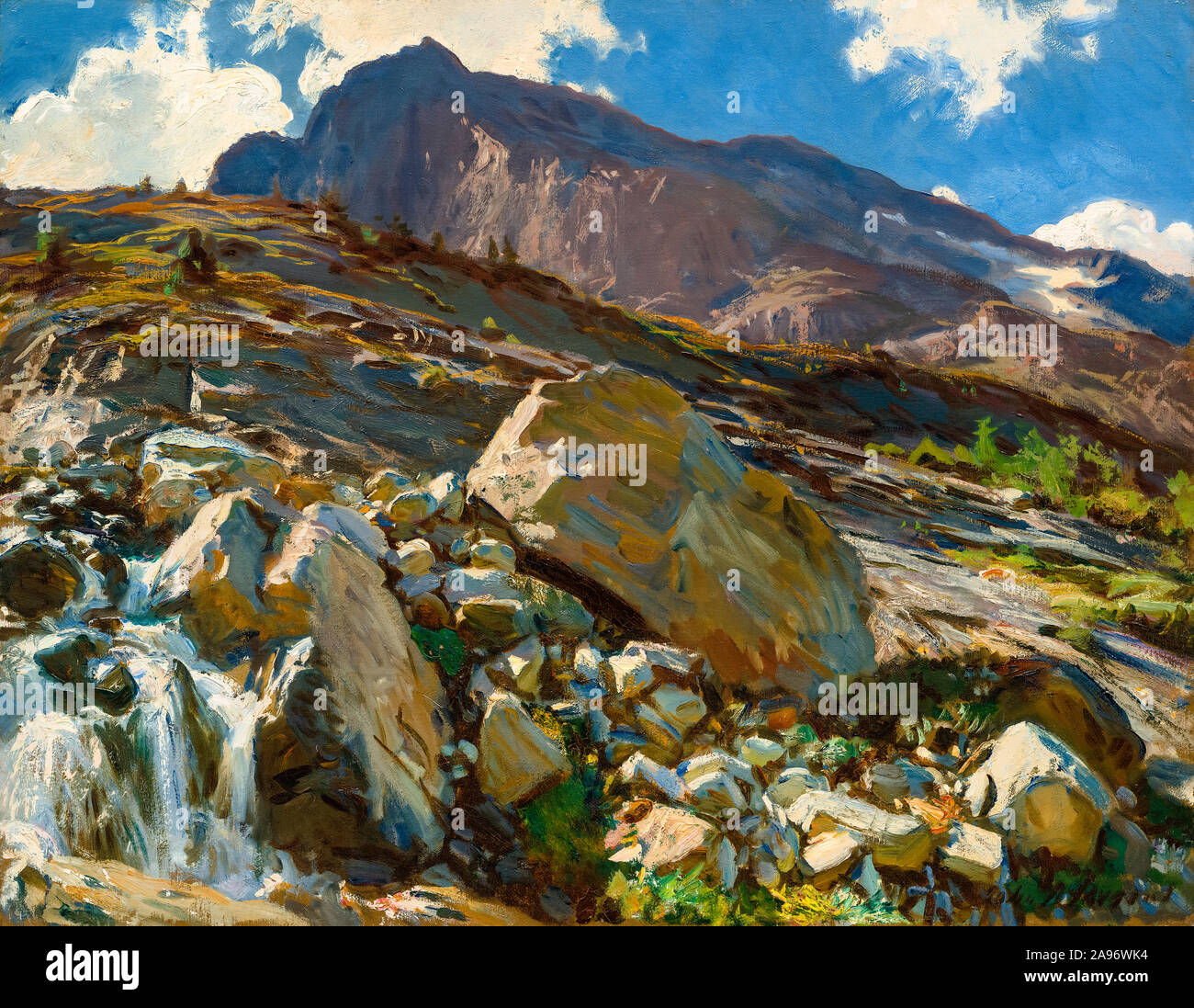 John Singer Sargent, Simplon Pass, landscape painting, 1911 Stock Photo