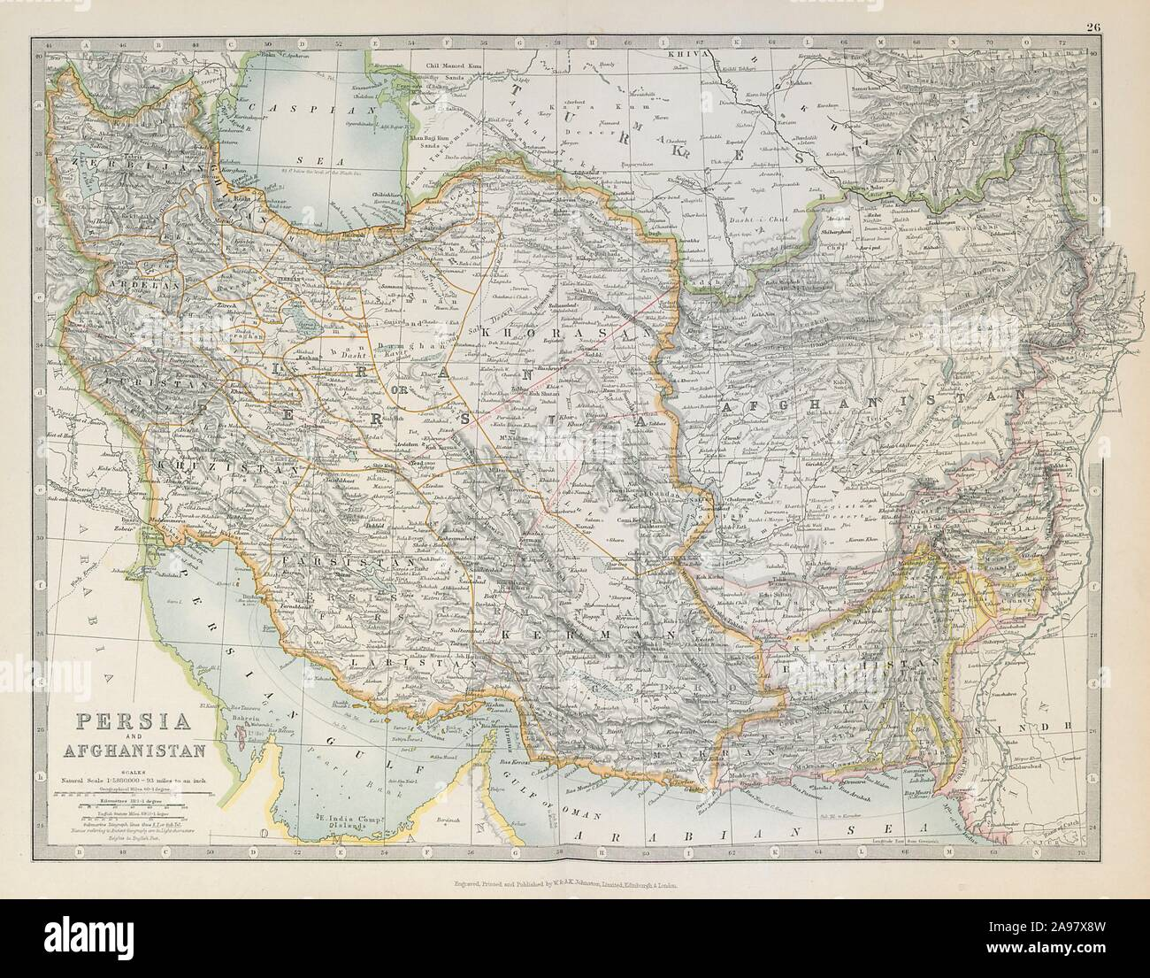 PERSIA & AFGHANISTAN. South West Asia. Iran Baluchistan ...
