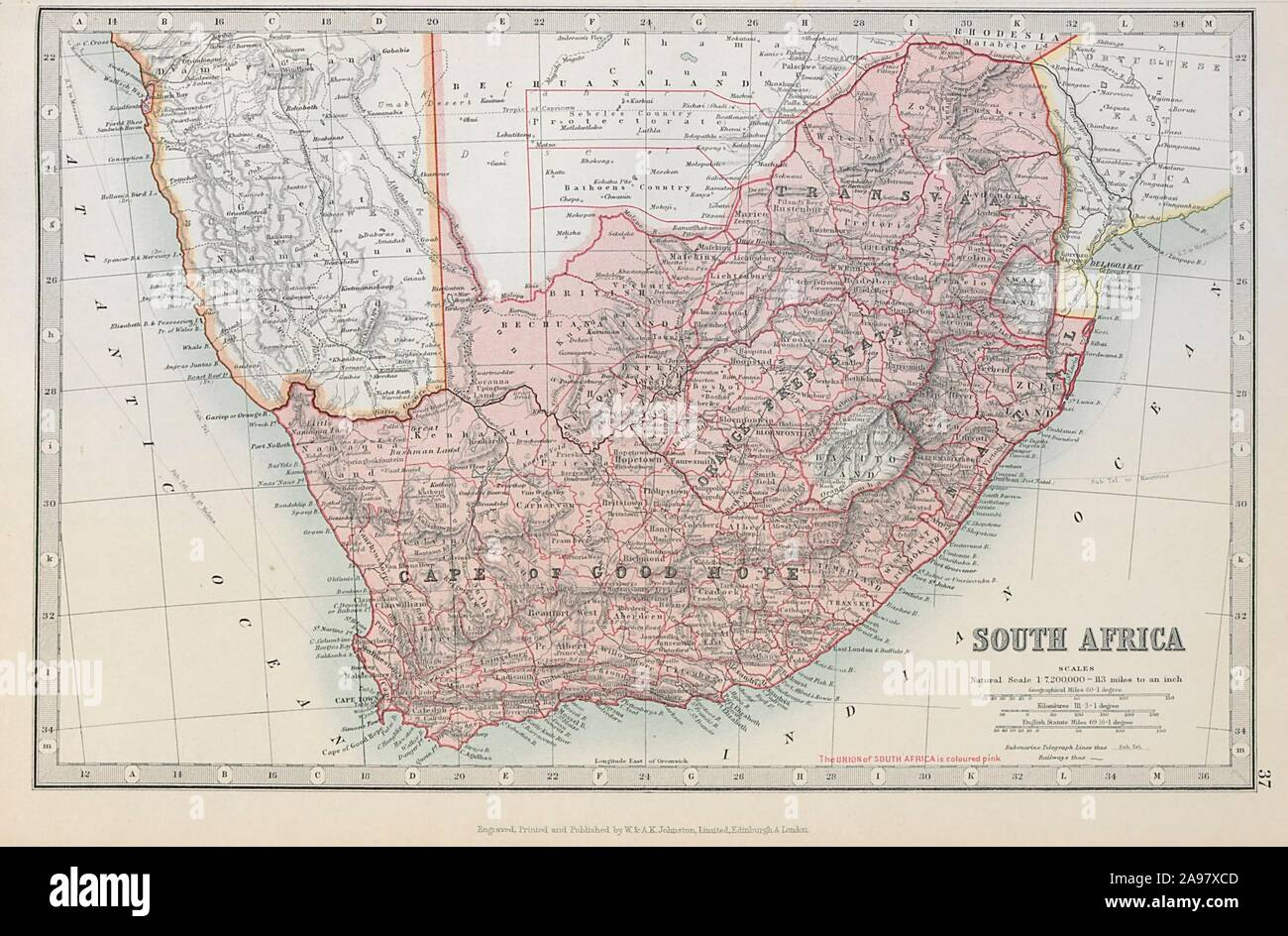 SOUTH AFRICA. Cape of Good Hope Transvaal Orange Free State ...