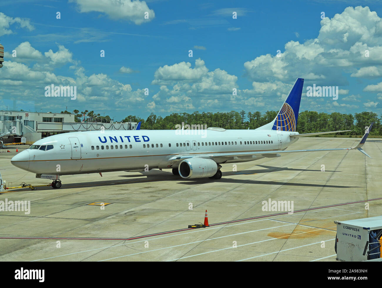 United Airlines Boeing 737 900 N37420 Being Pushed Back On The Apron Note There Is No Registration On The Side Of The Aircraft Stock Photo Alamy