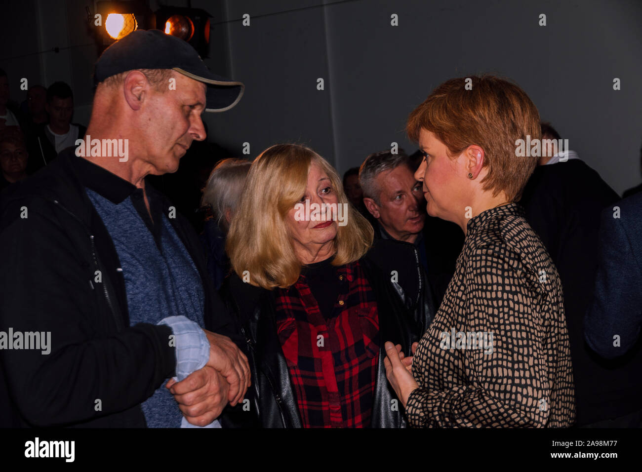 First Minister Nicola Sturgeon & Mhairi Black Paisley November 12th 2019 Stock Photo