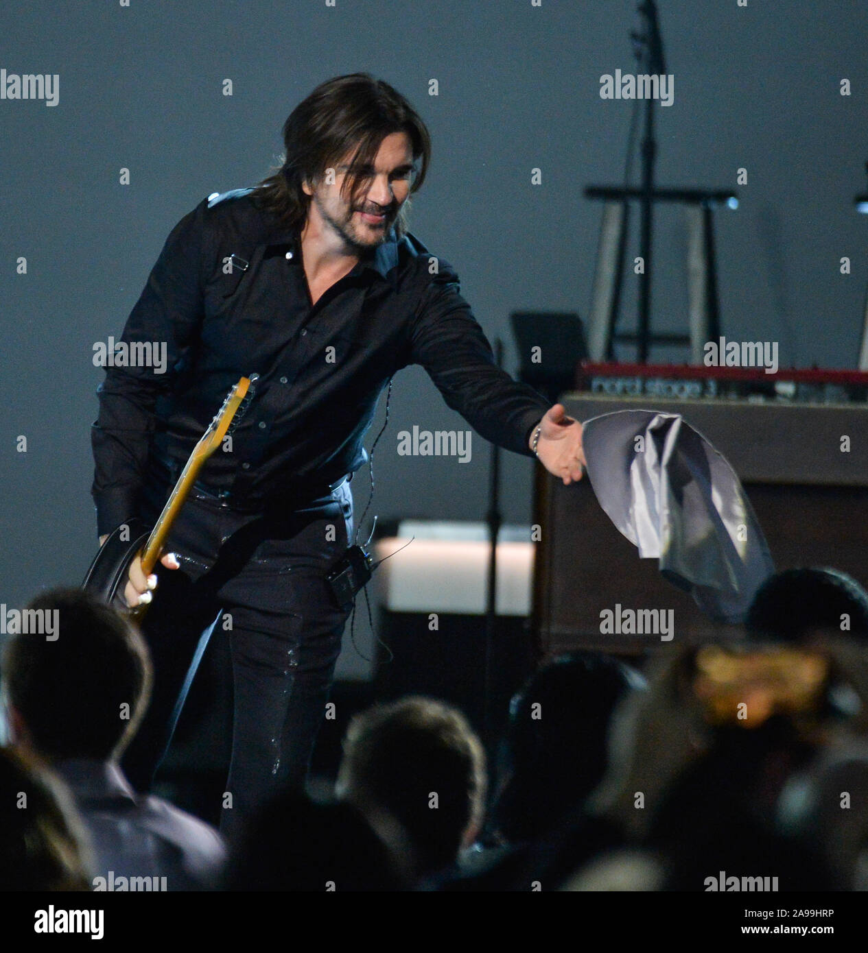 Las Vegas, United States. 13th Nov, 2019. Juanes performs onstage at the Latin Grammy Person of the Year gala honoring Columbian singer Juanes at the MGM Grand Convention Center in Las Vegas, Nevada on Wednesday, November 13, 2019. Photo by Jim Ruymen/UPI Credit: UPI/Alamy Live News Stock Photo