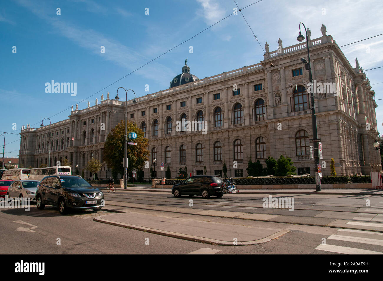 Exterior of the Natural History Museum, Vienna, Austria Stock Photo