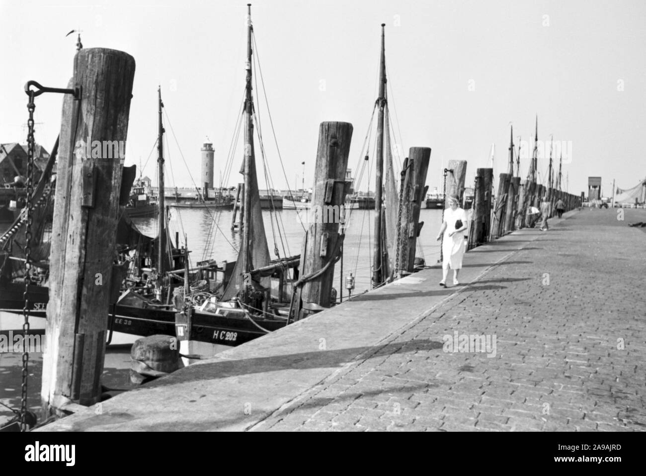 A young woman out and around at Cuxhaven, Germany 1930s. Stock Photo