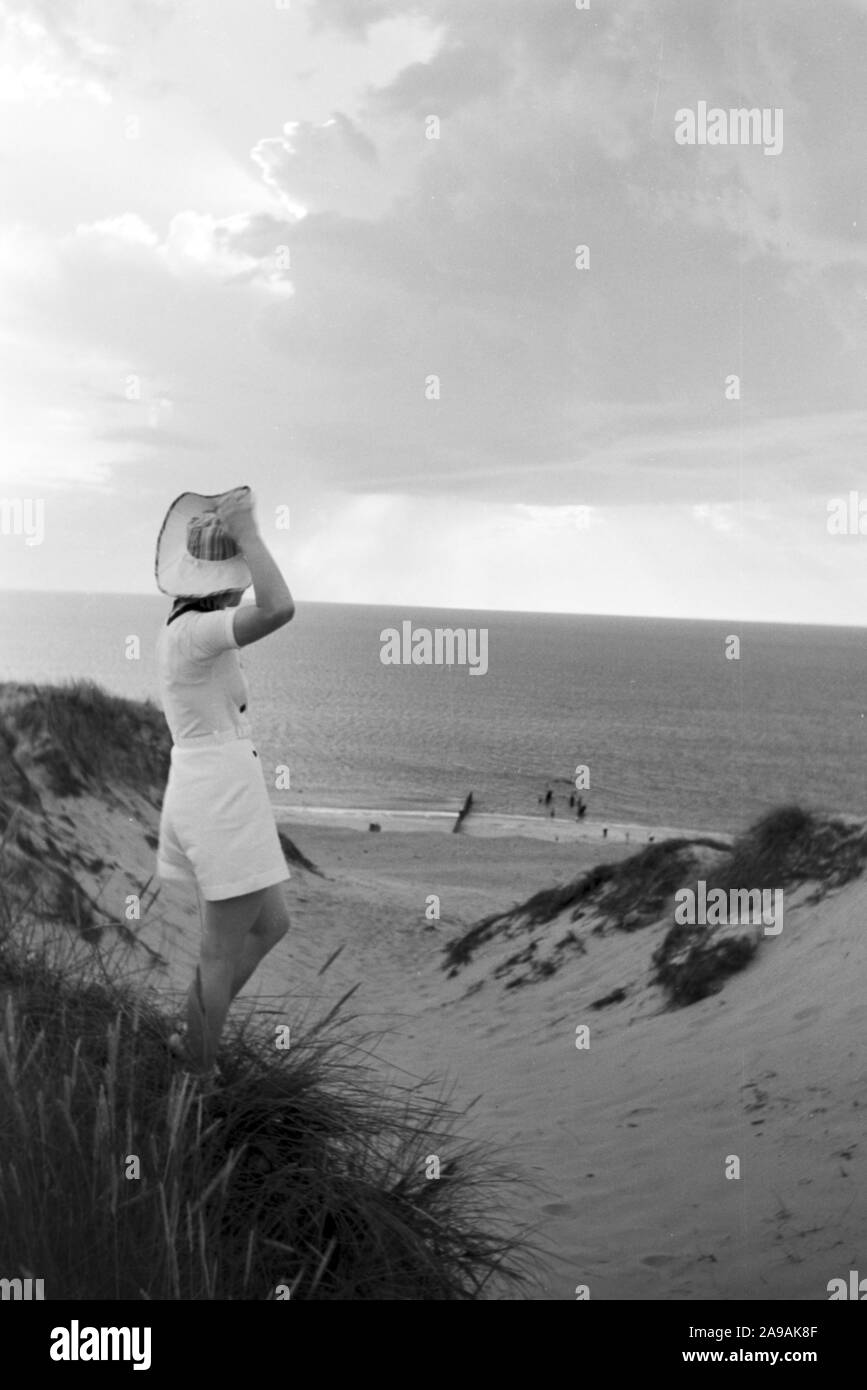 Vacations on Westerland, Germany 1930s Stock Photo