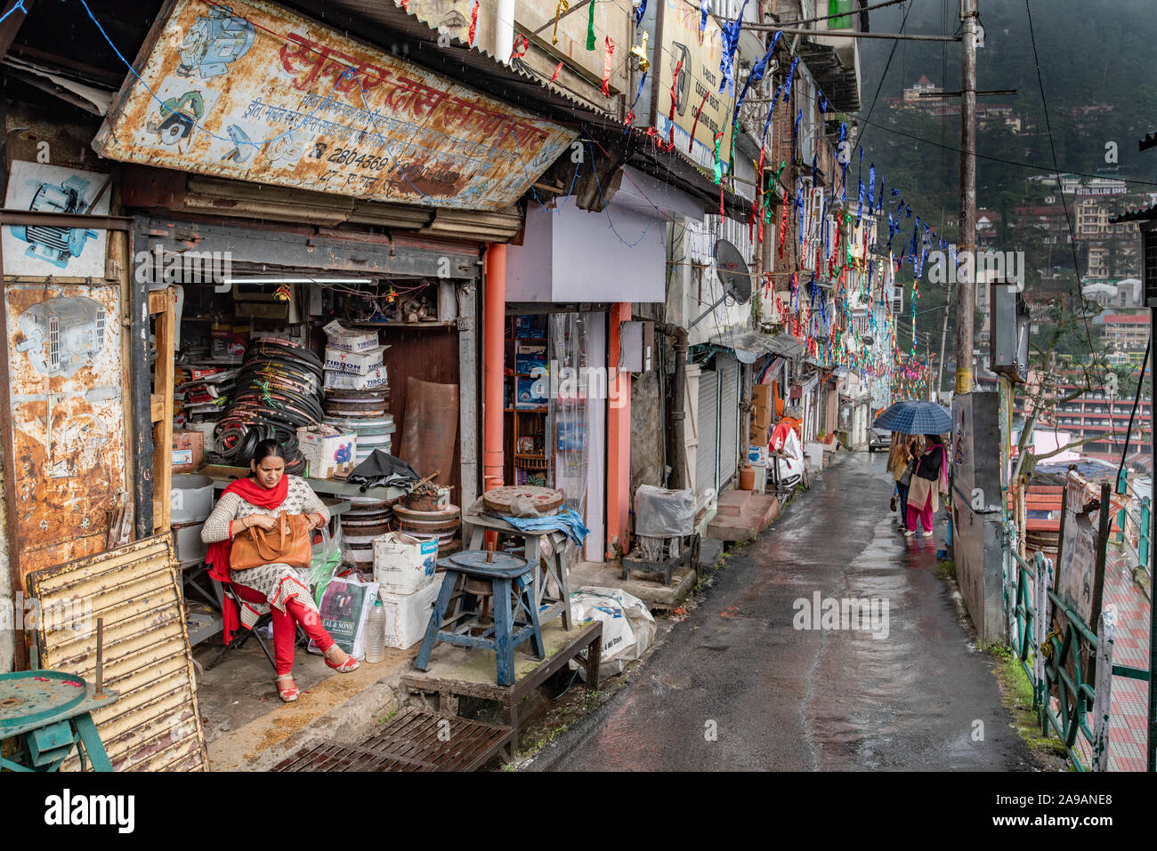Ganj Road, Shimla, Himachal Pradesh Stock Photo