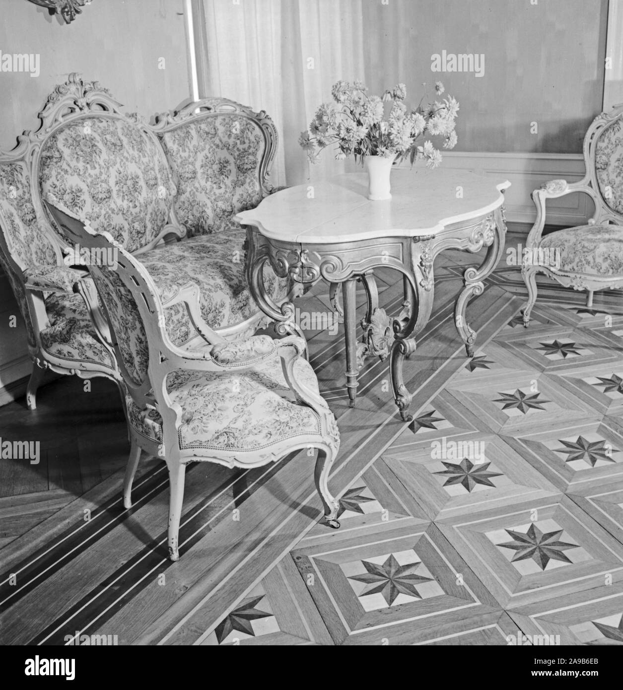 Sitting room suite, Germany 1930s. Stock Photo