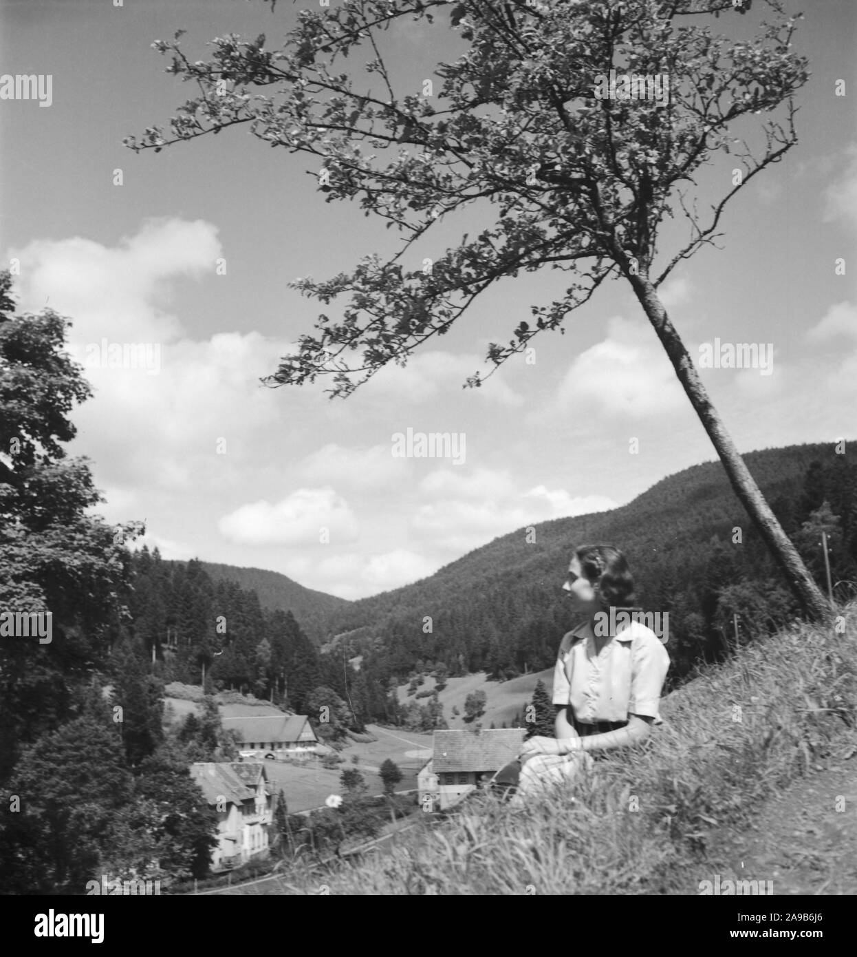Summer in the Black Forrest, Germany 1930s. Stock Photo