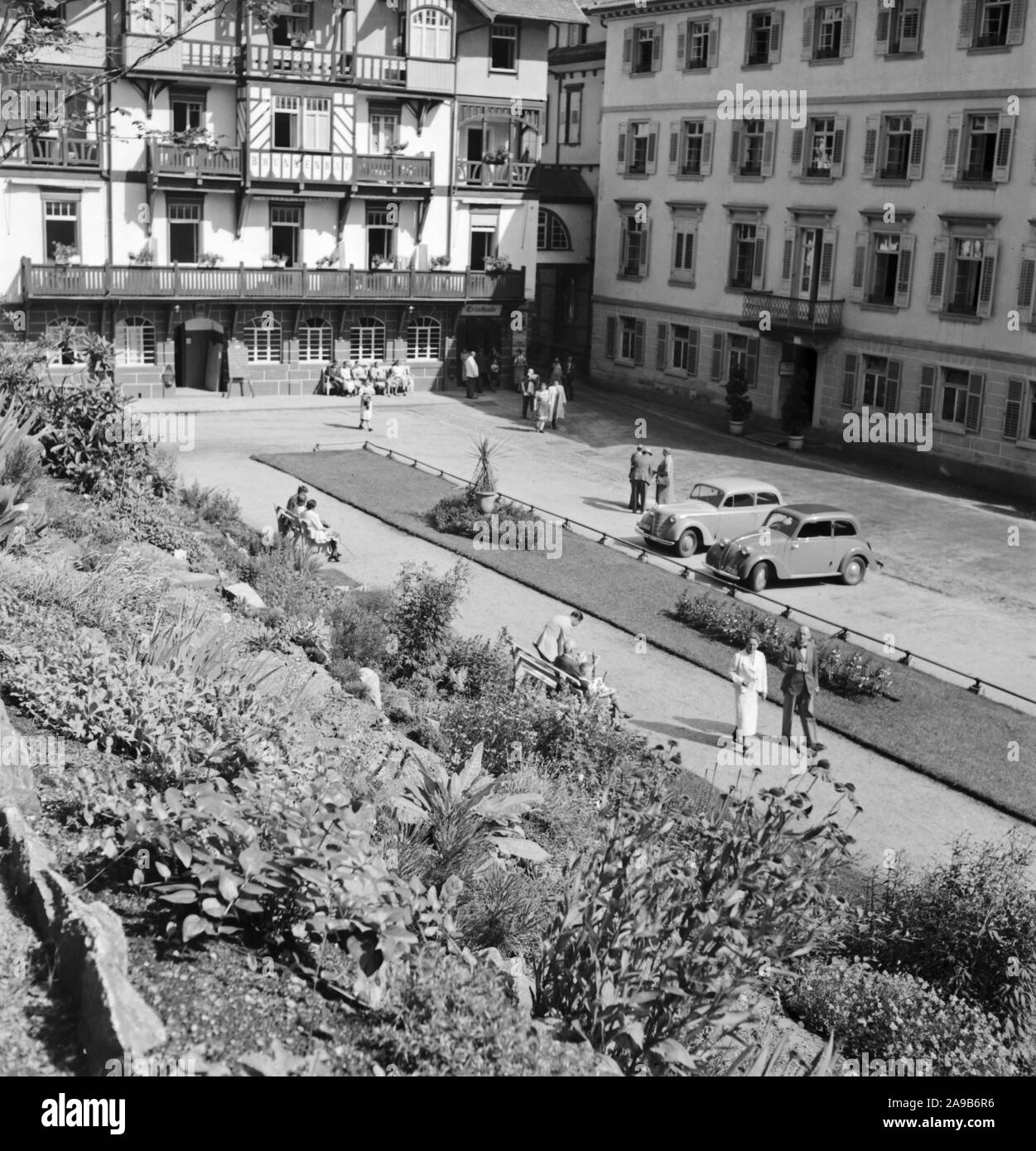 Beginning of summer in the city, Germany 1930s. Stock Photo