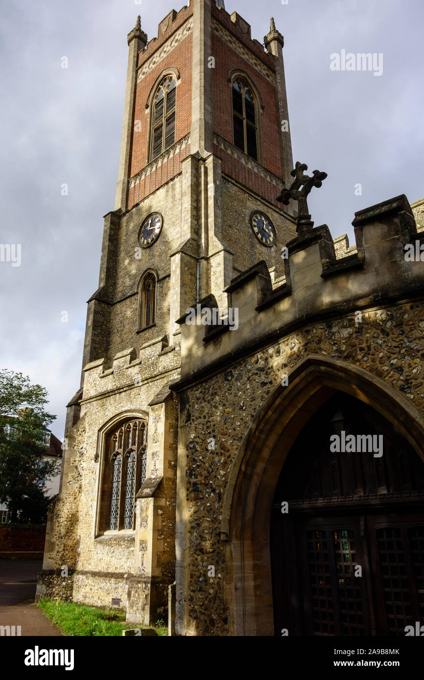 st michaels church,Bishops Stortford Town Centre High Street, Hertfordshire, England, UK, GB Stock Photo