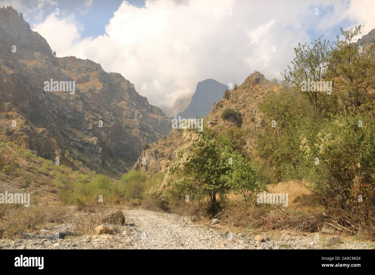 Western Tian Shan mountains in the Ugam-Chatkal National Park Stock Photo