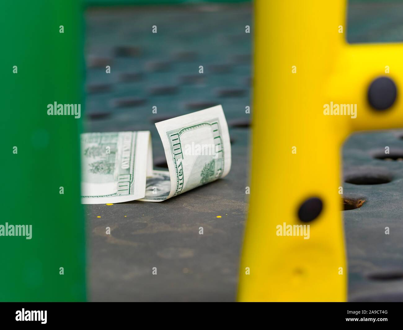 Money lost and found Stock Photo