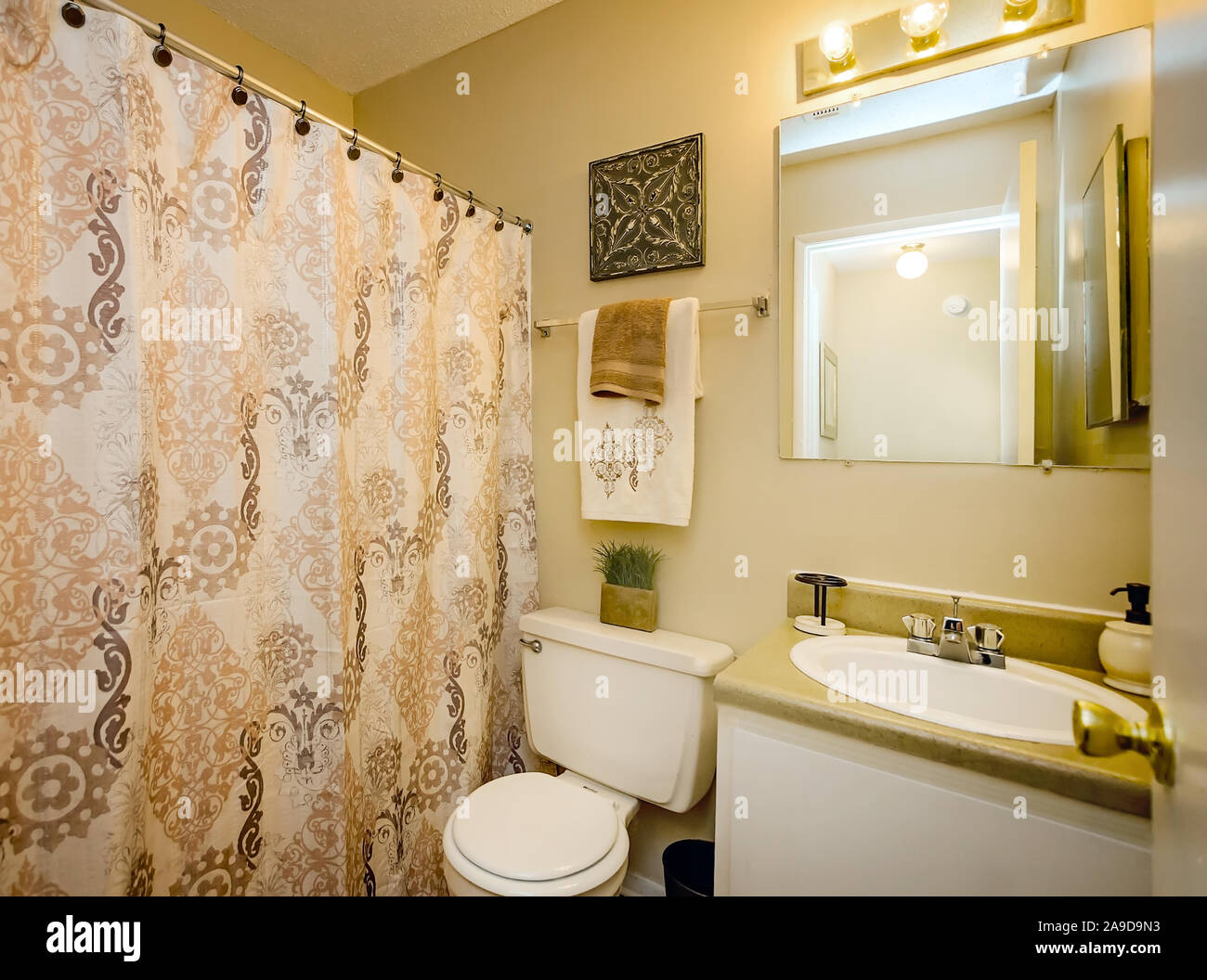 A bathroom at Autumn Woods Apartments, located on Foreman ...