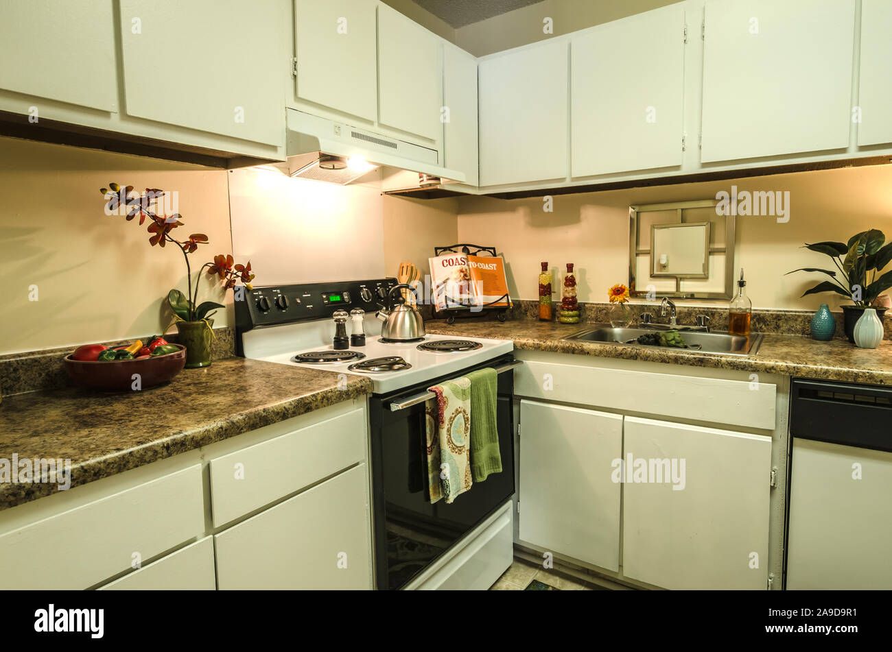 The kitchen at Autumn Woods Apartments on Foreman Road in ...