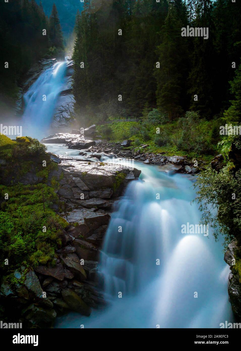 Krimml Waterfalls, High Tauern National Park, Krimml, Pinzgau region, Salzburger Land region, Salzburg (state), Austria, Europe Stock Photo