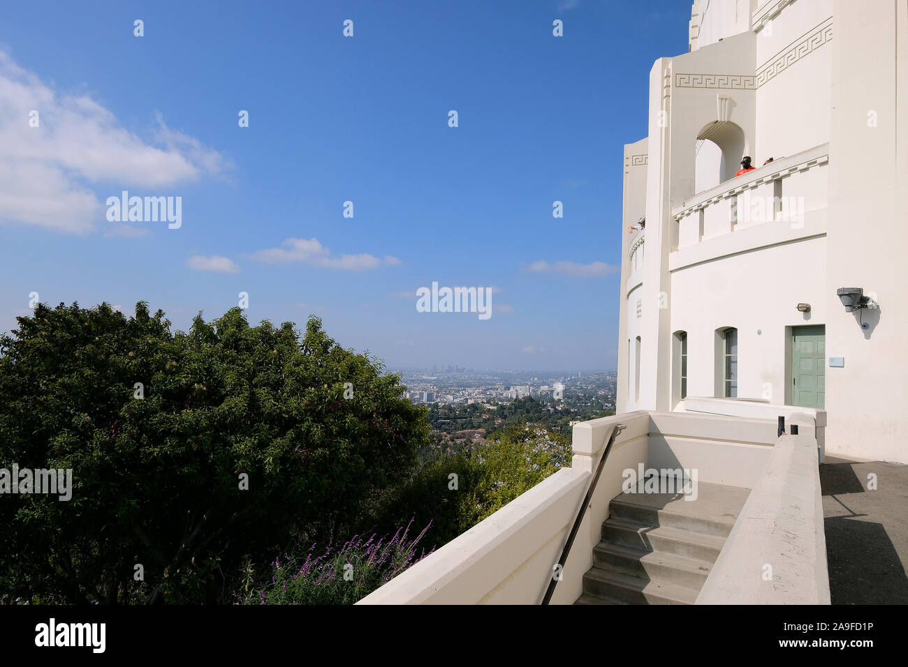 View from Griffith Park Observatory to Los Angeles, California, USA Stock Photo