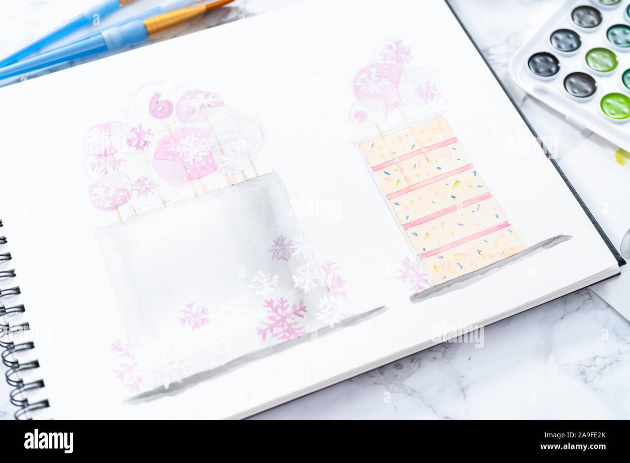 Tremendous Baker Is Designing A Birthday Cake For A Little Girls Birthday Funny Birthday Cards Online Overcheapnameinfo