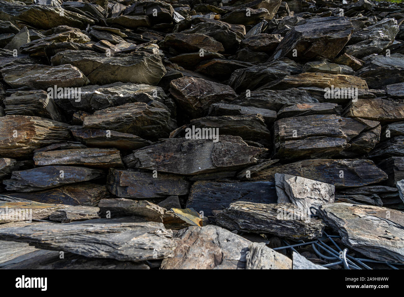 rock formations on rheinsteig hiking trail in the middle rhine valley, germany Stock Photo