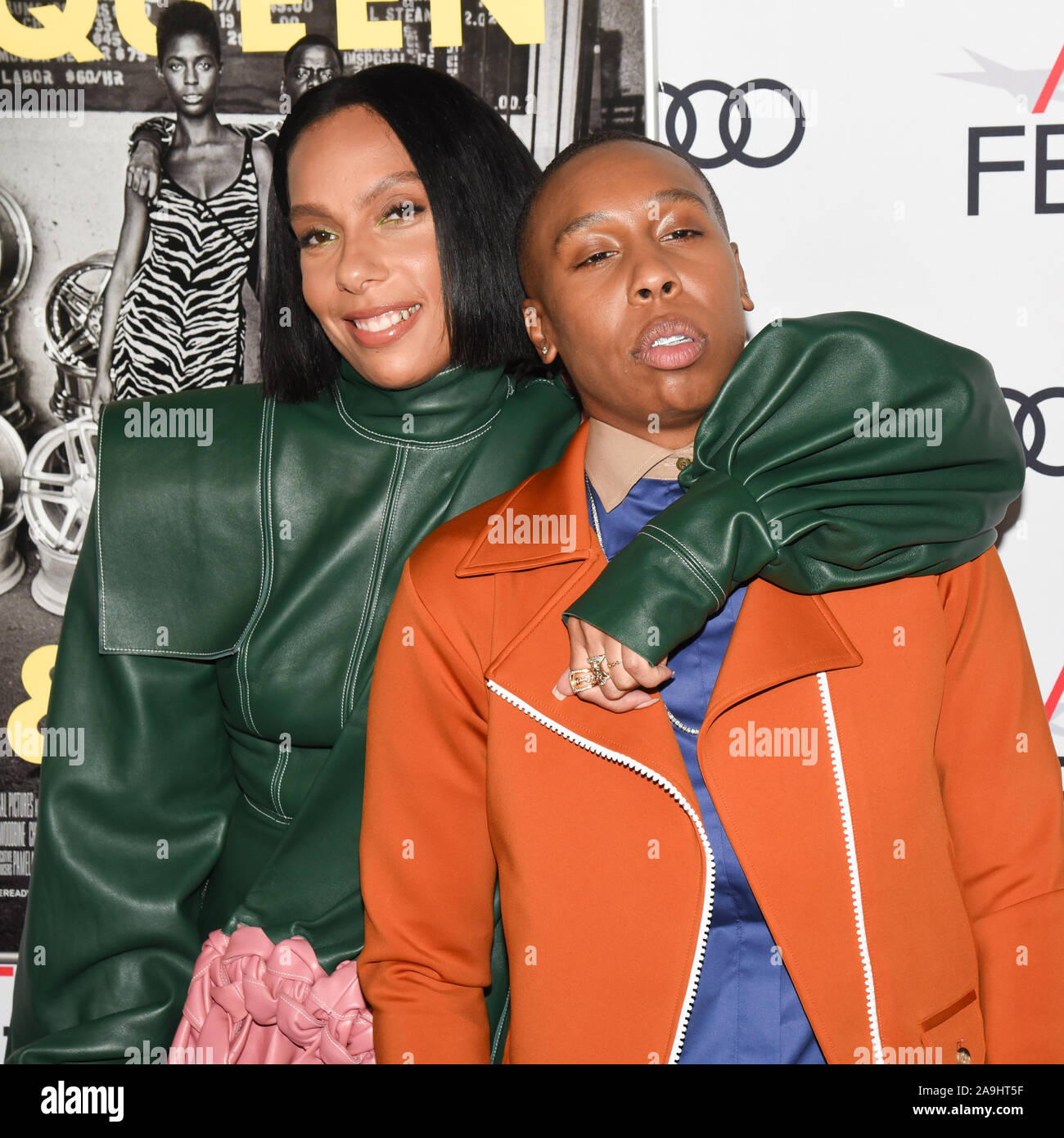 November 14, 2019, Hollywood, California, USA: Melina Matsoukas, Lena Waithe attends AFI FEST 2019 Presented By Audi – ''Queen & Slim'' Premiere. (Credit Image: © Billy Bennight/ZUMA Wire) Stock Photo