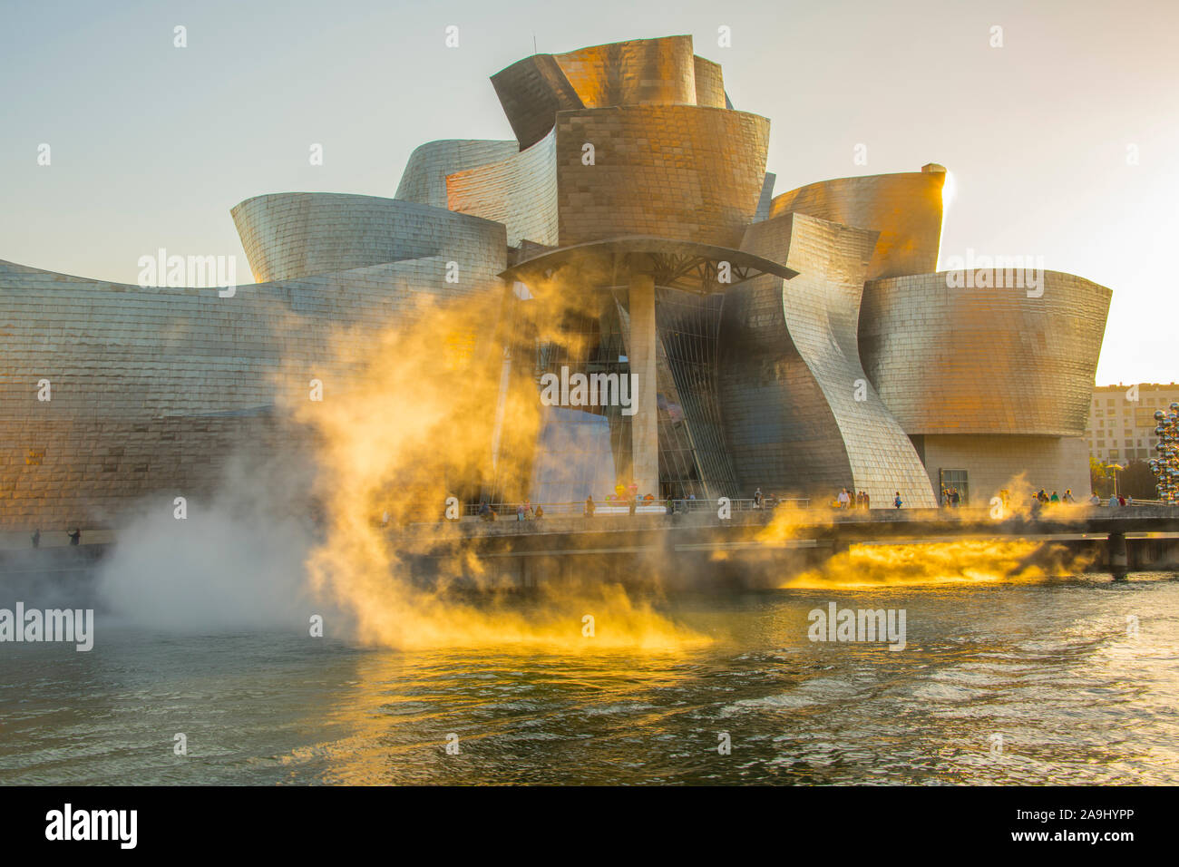 Guggenheim Museuem,  BIlbao, Spain, Basque Coast, One of the World's great art museums Stock Photo
