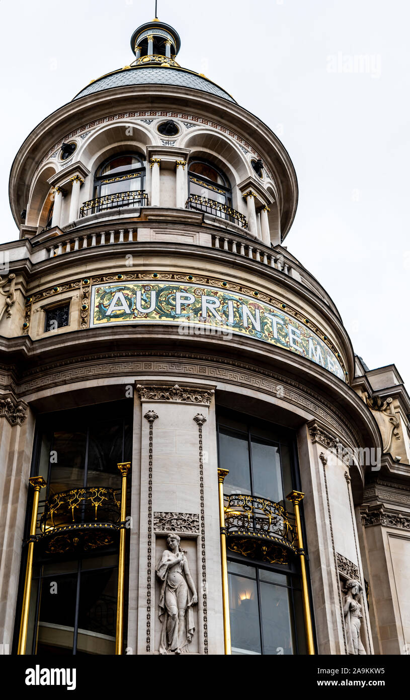 Parisian architecture, famous buildings and way of life Stock Photo