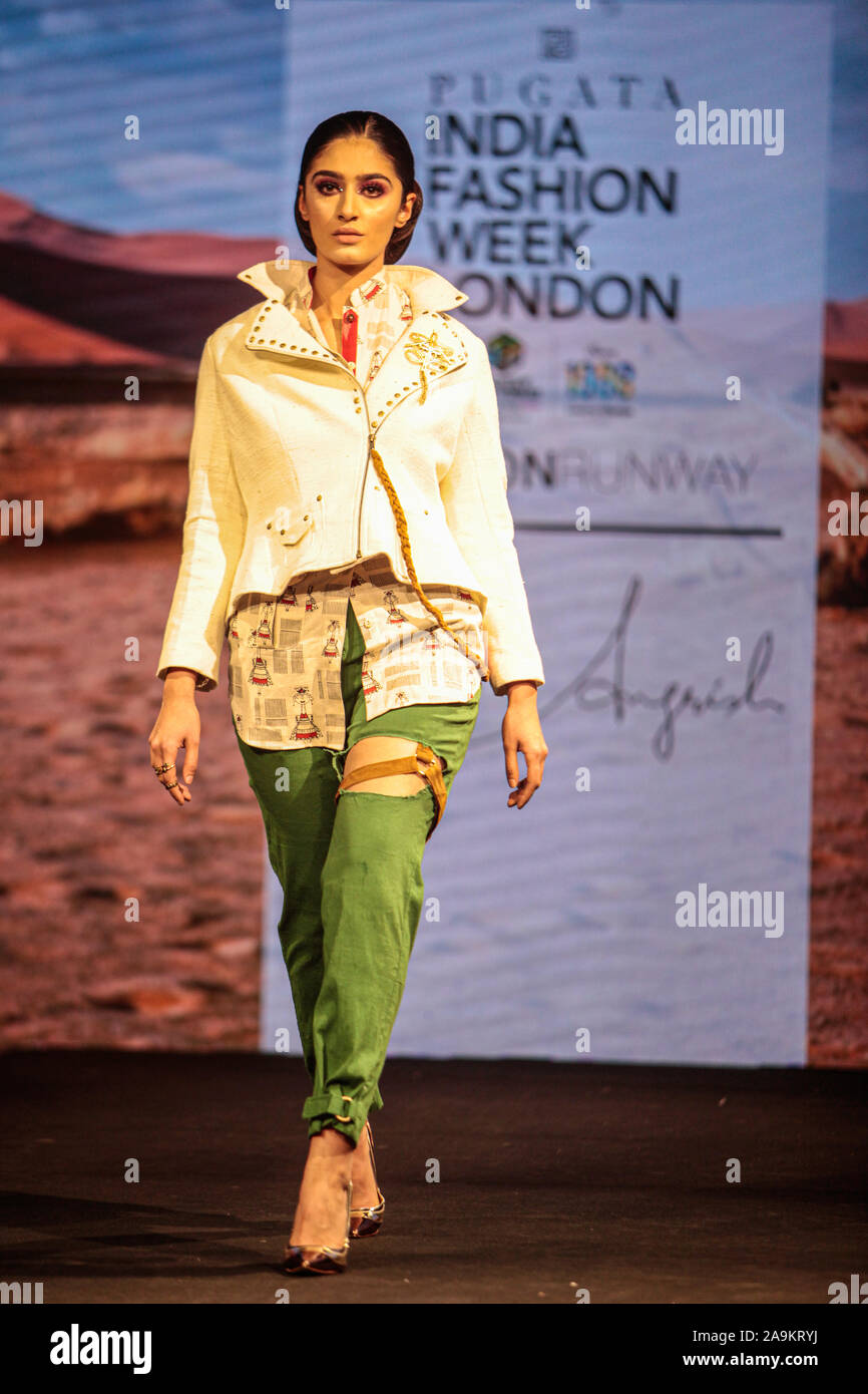 London Uk 16th Nov 2019 Designer Angrish Showing His Collection At Asian Wedding Show At The Novotel In Hammersmith The 2019 India Fashion Week London Was On The 16th To The 17th
