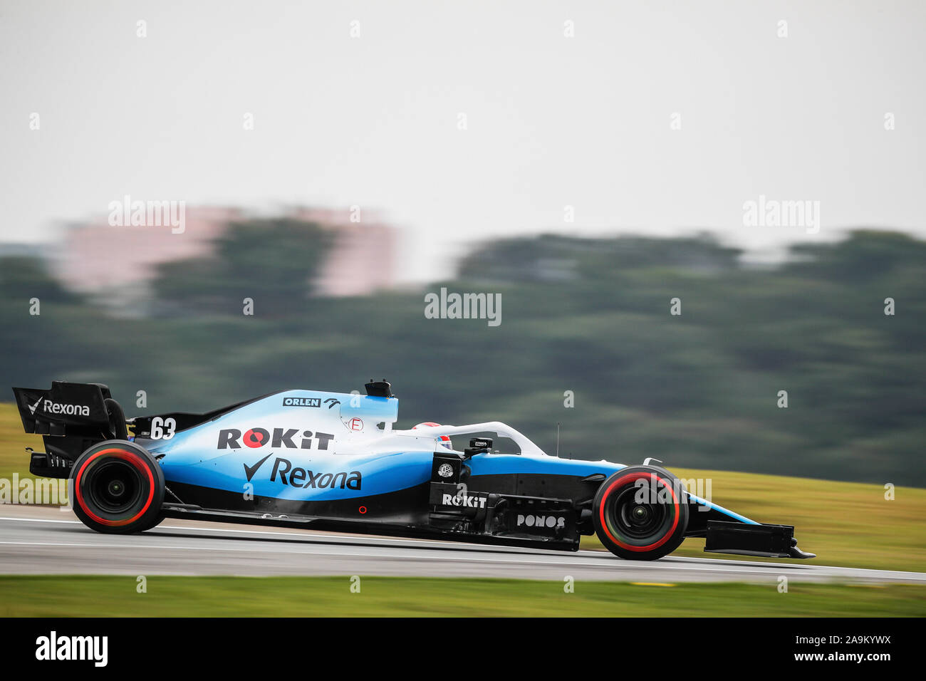Sao Paulo, Brazil. 15th Nov, 2019. 63 RUSSELL George (gbr), Williams Racing F1 FW42, action during the 2019 Formula One World Championship, Brazil Grand Prix from November 15 to 17 in Sao Paulo, Brazil - | usage worldwide Credit: dpa/Alamy Live News - Stock Photo
