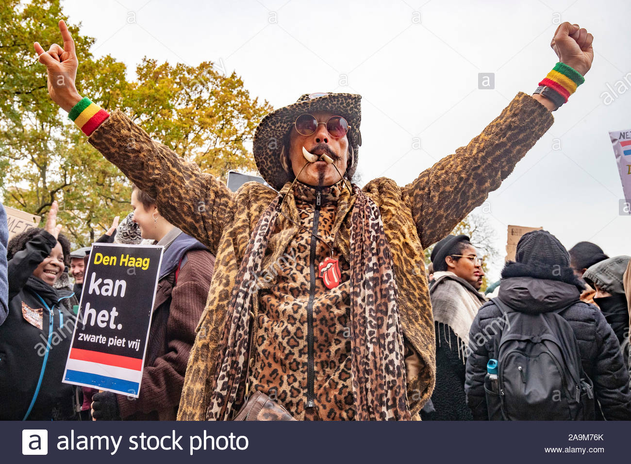 The Hague Protest Of Kick Out Zwarte Piet In The Centre Of The