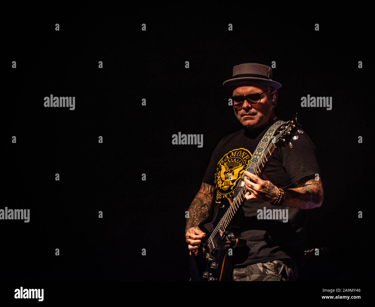 Milan, Italy. 14 November 2019. American Christian nu metal band P.O.D. performs at Live Music Club. Brambilla Simone Photography Live News Stock Photo