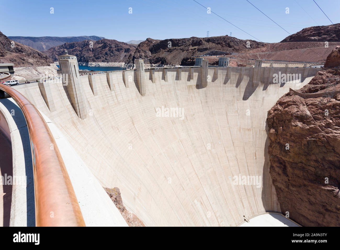 NEVADA, USA - May 21, 2012. Hoover Dam in Nevada, USA. The dam is capable of producing over 2000 megawatts of electricity. Stock Photo