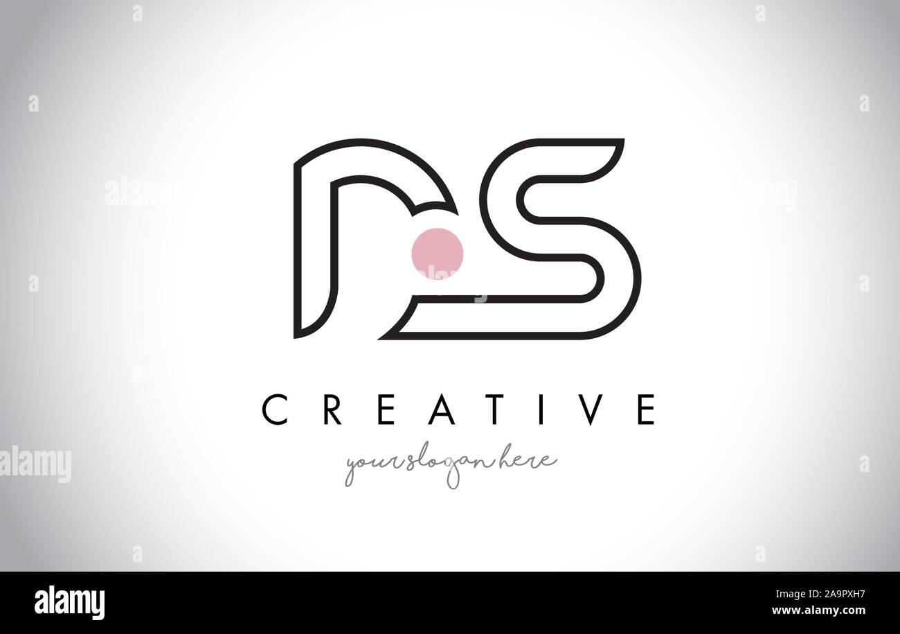 Ds Letter Logo Design With Creative Modern Trendy Typography And