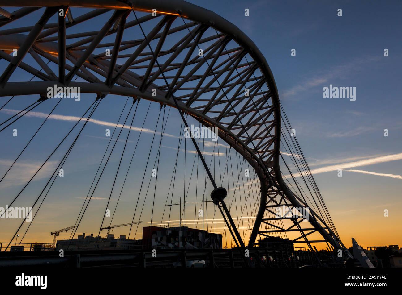 Ponte Settimia Spizzichino, Garbatella Rome. Stock Photo
