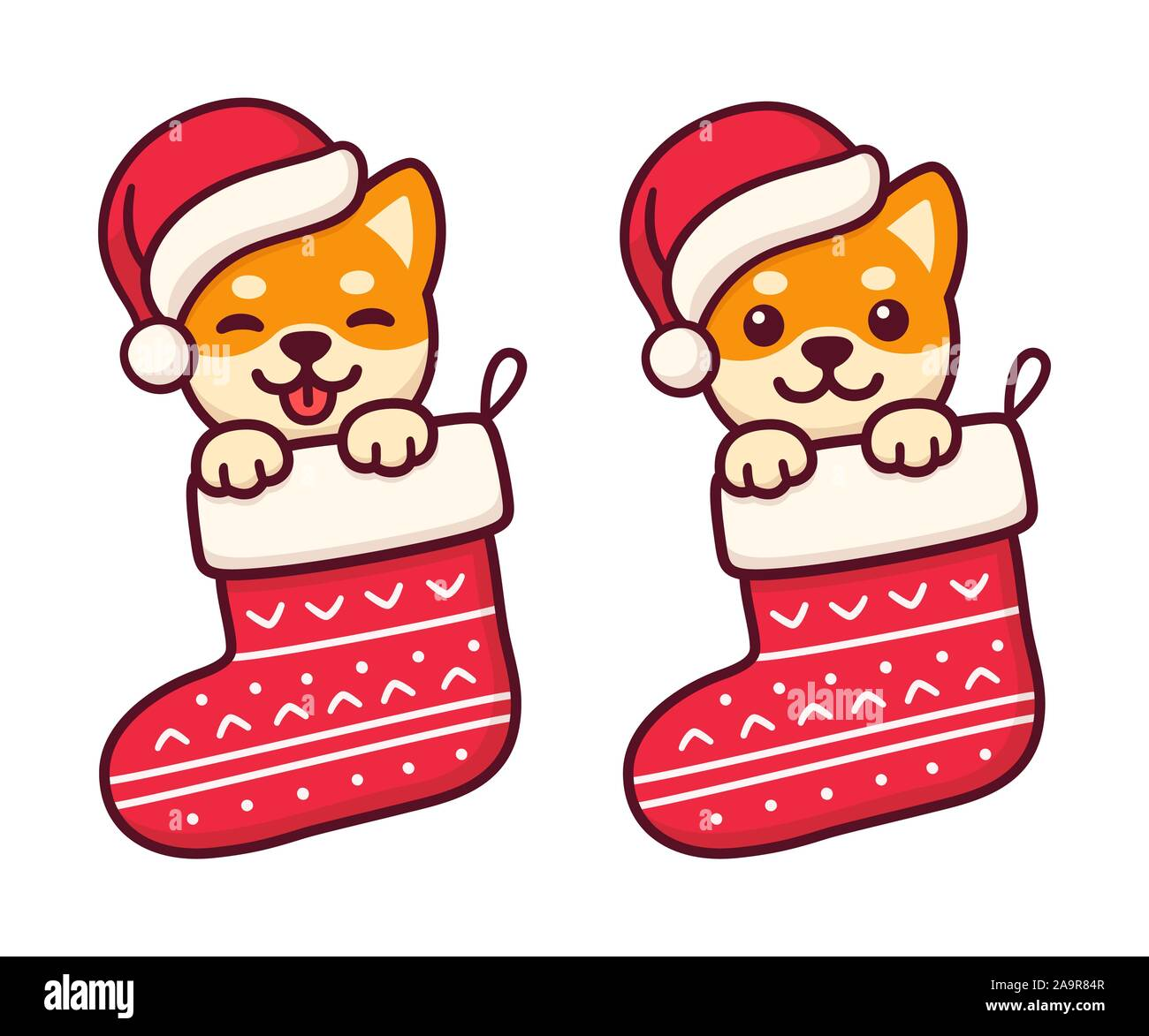 Dog Christmas Cartoon High Resolution Stock Photography And Images Alamy