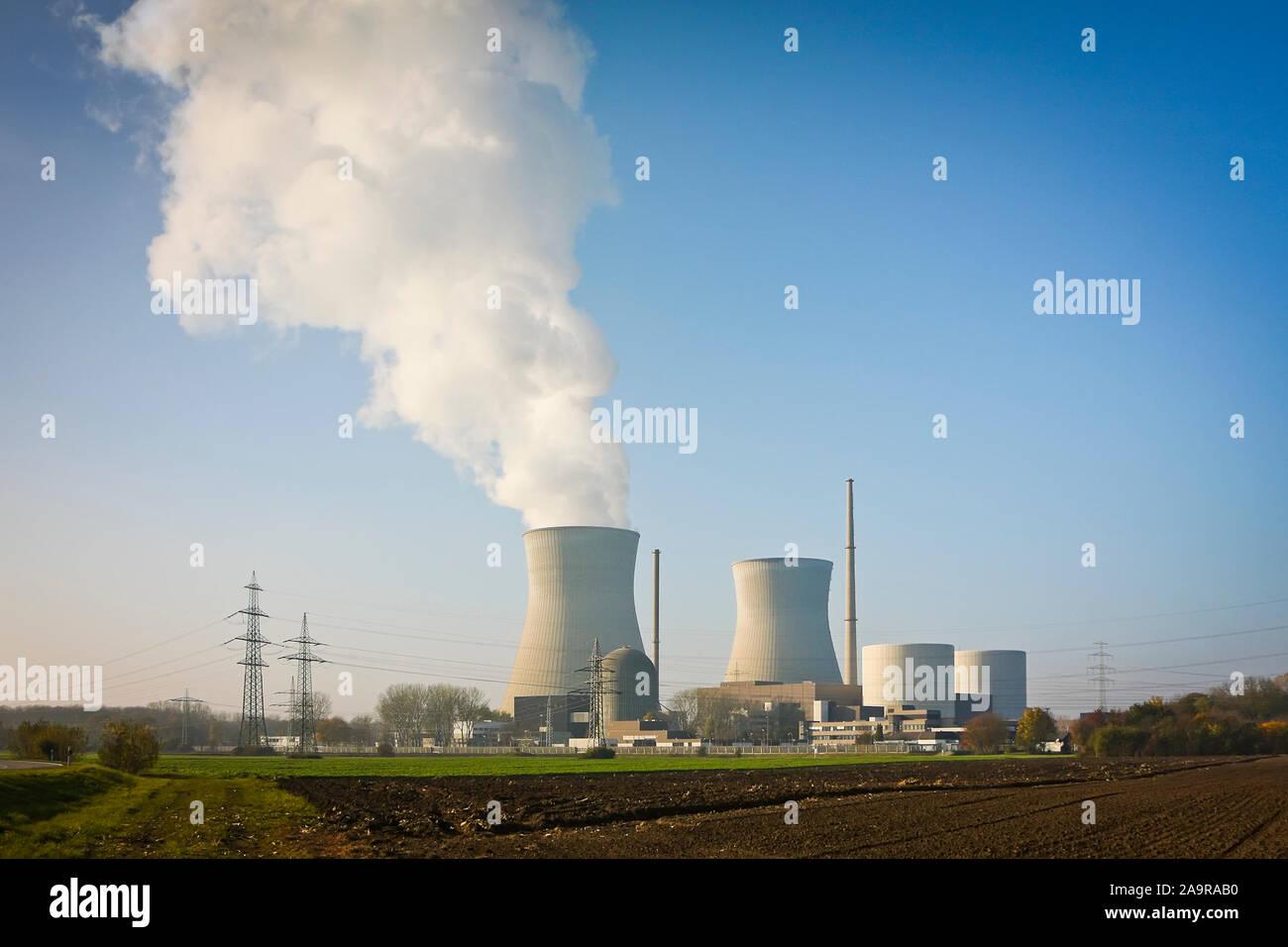 Ein aktives Atomkraftwerk in Gundremmingen, Deutschland Stock Photo