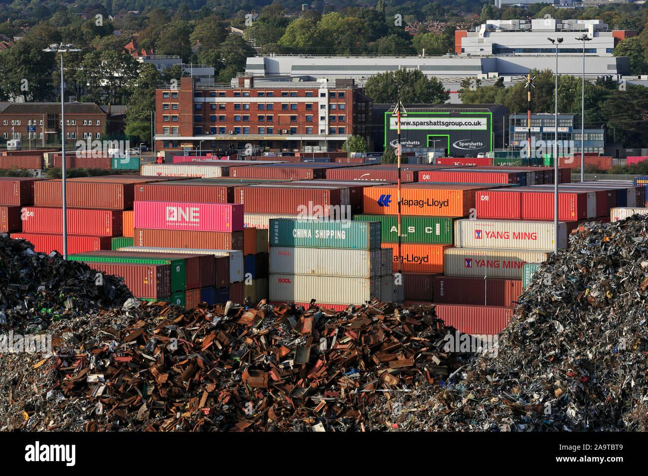 Metal recycling, Port of Southampton, Hampshire, England, United Kingdom Stock Photo