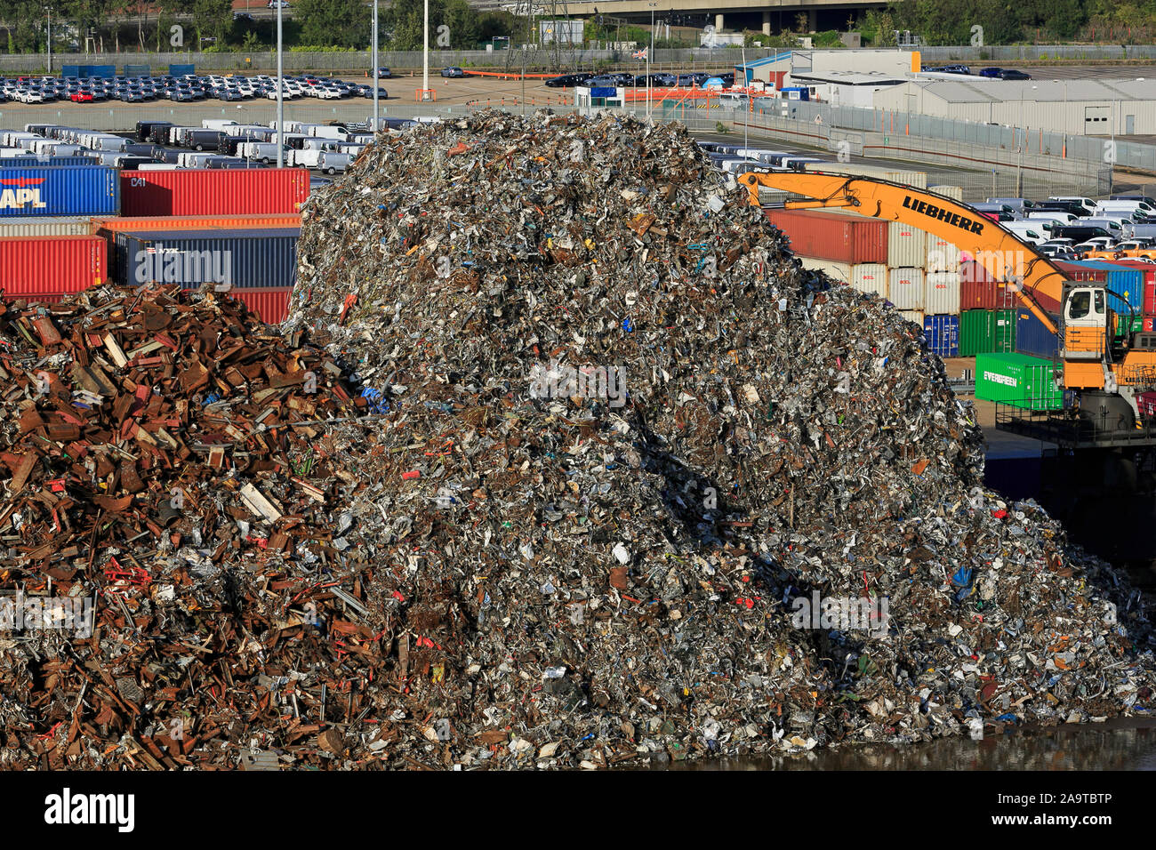 Metal recycling, Port of Southampton, Hampshire, England, United Kingdom Stock Photo