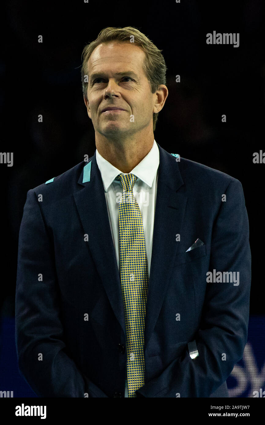 London, UK. 17th Nov, 2019. Stefan Edberg presenting the trophy at the Nitto ATP World Tour Finals at The O2 Arena on November 167, 2019 in London, England. Credit: Independent Photo Agency/Alamy Live News Stock Photo