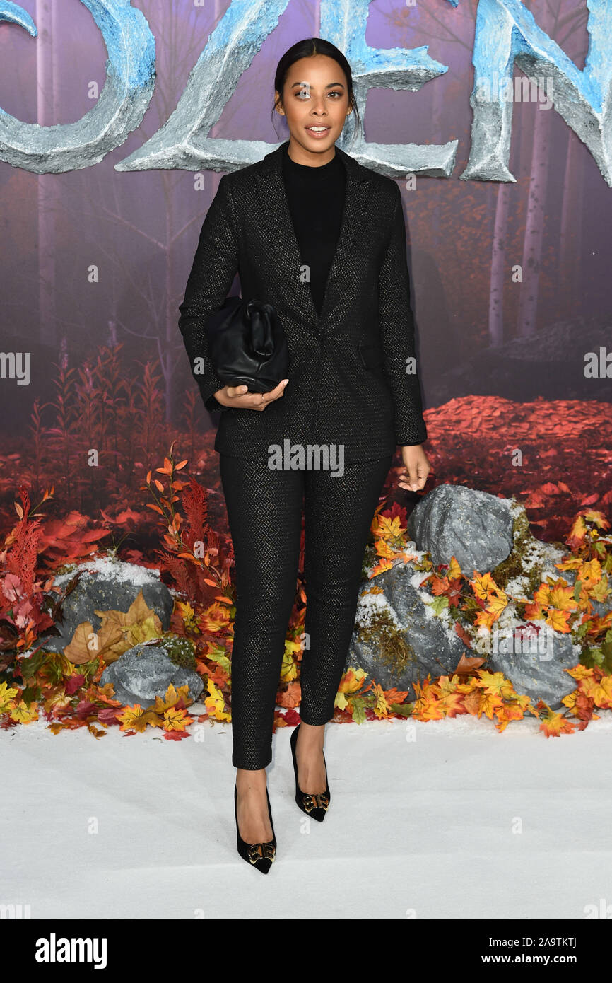 """London, UK. 17th Nov, 2019. LONDON, UK. November 17, 2019: Rochelle Humes arriving for the """"Frozen 2"""" European premiere at the BFI South Bank, London. Picture: Steve Vas/Featureflash Credit: Paul Smith/Alamy Live News Stock Photo"""