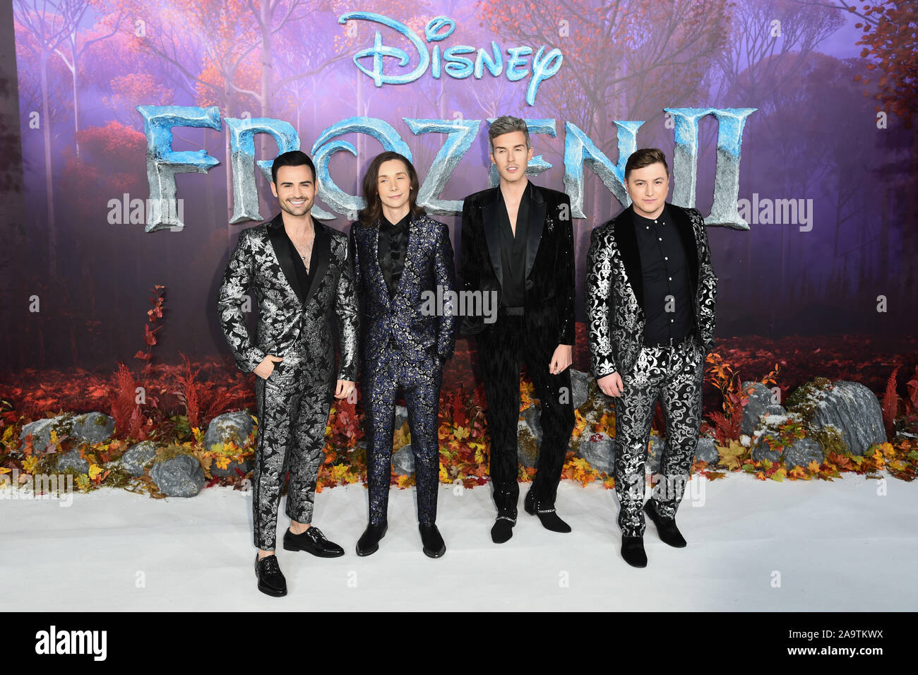 """London, UK. 17th Nov, 2019. LONDON, UK. November 17, 2019: Collabro arriving for the """"Frozen 2"""" European premiere at the BFI South Bank, London. Picture: Steve Vas/Featureflash Credit: Paul Smith/Alamy Live News Stock Photo"""