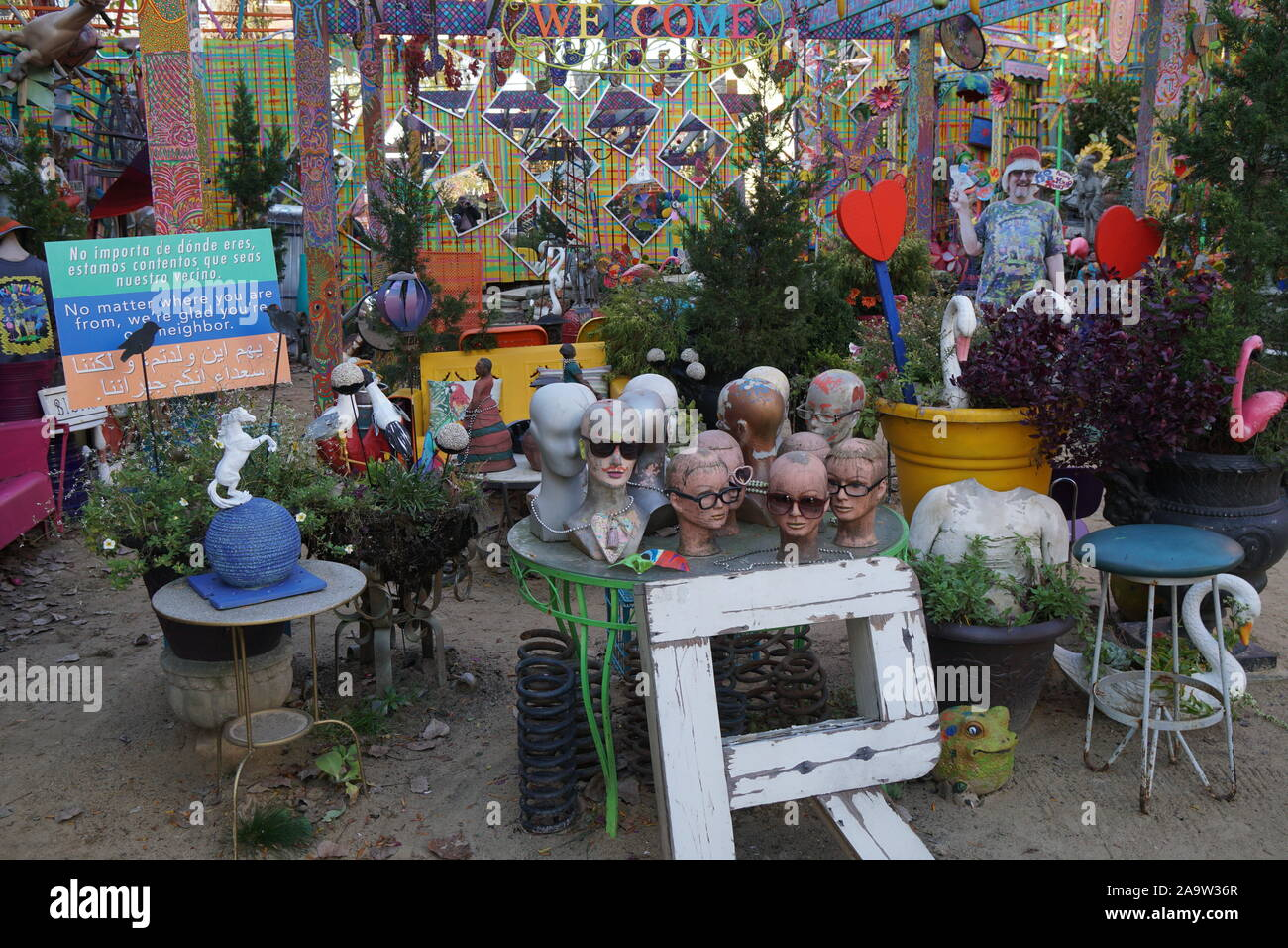 PITTSBURGH - NOVEMBER 2019: Randyland is a popular free attraction, a flamboyant outdoor extravaganza of random junk as pop art in the artist's backya Stock Photo